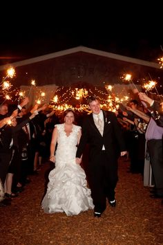 Cute way to end the night - SPARKLERS!
