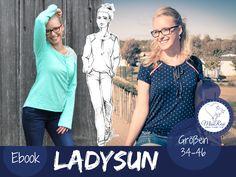 "Ebook Shirt ""LADYSUN"", Größe 34-46 von MissRosi auf DaWanda.com"