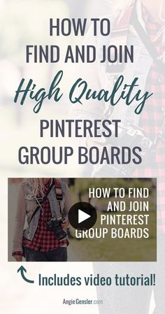 How to Find and Join High-Quality Pinterest Group Boards via /angiegensler/