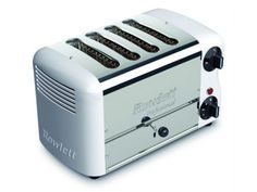 Rowlett Esprit 4 Slice Bread Toaster in White - Toasters - Electronics