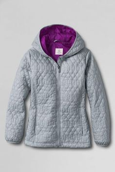 Girls' Packable Puffer Jacket from Lands' End