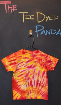 OMG THERE IS ONLY ONE LEFT GET IT WHILE THEY ARE STILL HERE!! Kids Tie Dye Meduim TShirt Fire Burst by TheTieDyedPanda on Etsy, $12.00