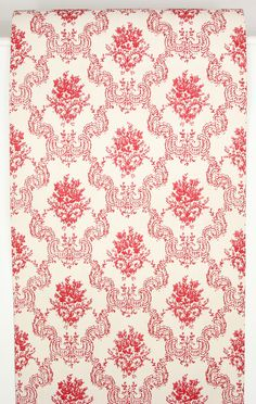 Rosie's Vintage Wallpaper - 1960's Vintage Wallpaper Dark Red Rose Damask, $55.00 (http://www.rosiesvintagewallpaper.com/1960s-vintage-wallpaper-dark-red-rose-damask/)
