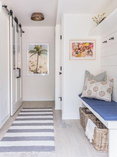 See How Gray Malin Turned a Fixer-Upper Into the Dreamiest Lake House Michigan Lake House, Glass Barn Doors, Ship Lap Walls, Home Hacks, Home Renovation, Mudroom, All Modern, Fixer Upper, Living Area