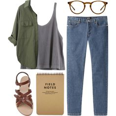 field notes by admir-ing on Polyvore featuring moda, A.P.C., rag & bone, Oliver Peoples, women's clothing, women's fashion, women, female, woman and misses