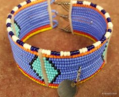 African fashion 2014  new Masai beaded lady Bracelet by kissafrika