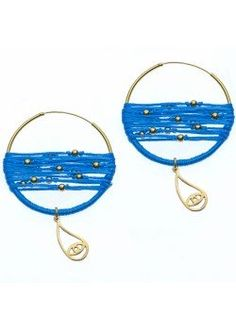 Helios collection - royal blue hoops