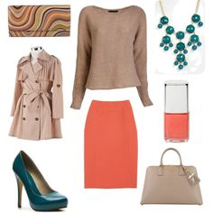 """Nude Trench Coat"" by agrigento33 on Polyvore"