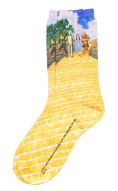 Wizard of Oz Yellow Brick Road Sublimated Adult Women's Crew Socks