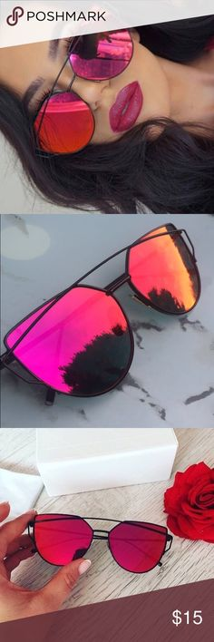 Mirrored Black and Red Sunglasses Beautiful Mirrored Sunglasses Accessories Sunglasses