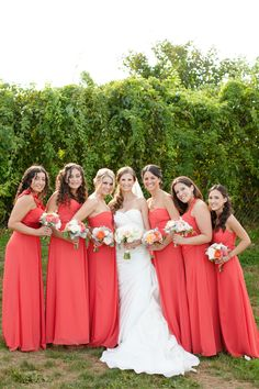 #Bridesmaids #Levkoff | See the wedding on SMP: http://www.StyleMePretty.com/massachusetts-weddings/2014/01/24/newport-wedding-at-the-regatta-place/ Deborah Zoe Photography