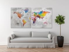 #MauroFerrettiSrl 0317290000 DIPINTO SU TELA CRAZY WORLD SET 2 PZ CM 100X3X100 #mauroferrettisrl #home #homedecor #decor #casa #arredo #arredamento #dipinto #dipintosutela #canvas #modern #world #crazyworld #tela #color #astratto #newitem #newlook #italiansdoitbetter