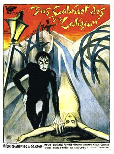 vintage horror movie posters   cabinet of dr caligari poster 2