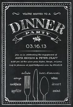 design contest entry chalkboard dinner party - Chalkboard Designs Ideas