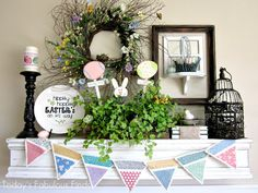 Easter Mantel at Today's Fabulous Finds!  {love}