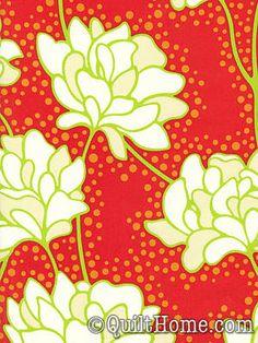 Pop Garden Red Fabric by Heather Bailey. $9.50 per yard.