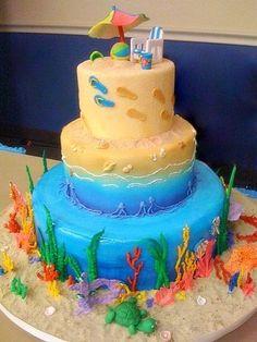 ~ Sugar Teachers ~ Cake Decorating and Sugar Art Tutorials: Footprints in the Sand