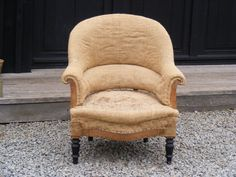 Hessian Tub Chair with Round top.   Height: 87cm  Width: 77cm  Depth of seat: 52cm