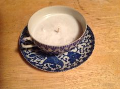 Jasmine Soy Wax In Japanese Tea Cup with Saucer by Susannj30, $10.00