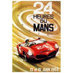 OnlineGalleries.com - 24 Heures du Mans 1963 - Le Mans sports car racing poster