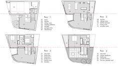 floor split level modern house design plan plans home