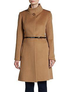 Wool-Blend Coat - SaksOff5th