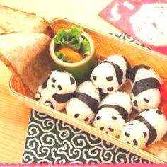 Panda bear sushi roll..