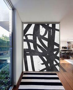 Large Abstract Painting On Canvas Minimalist door CelineZiangArt