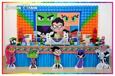 7th Birthday Party Ideas, Birthday Party Decorations, Birthday Parties, Aniversario Star Wars, Teen Titans Go, Superhero Party, Diy For Teens, Diy Party, Party Time