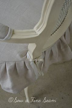 Slipcovered French chair by Sew a Fine Seam