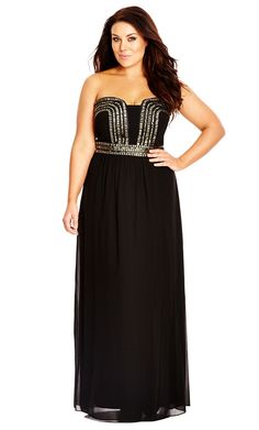 433 best Curvy Glam images on Pinterest   Plus size clothing  Ball     City Chic Greed Maxi Dress   Women s Plus Size Fashion   City Chic Your  Leading Plus