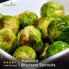 Salt, pepper, and olive oil are all that's need to make delicious Roasted Brussels Sprouts. Repin for an easy #Thanksgiving side. http://allrecipes.com/video/1324/roasted-brussels-sprouts/detail.aspx?lnkid=7171
