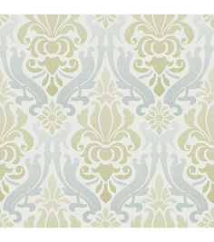 WallPops® NuWallpaper™ Blue and Green Nouveau Damask Peel And Stick Wallpaper