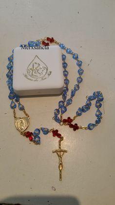 Rozenkrans ongeboren kind in doosje , Rosary unborn in box 73 cm