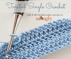 Twisted Single Crochet Stitch Tutorial - (mooglyblog)
