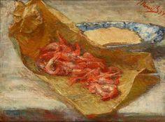 Marie Bracquemond (1840-1916) Bouquet de crevettes (1887)
