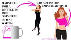 3 Minute Standing Ab and Waist Workout that you can do while waiting for the kettle to boil. Just 3 moves that sculpt and shape your waist. Lucy xx