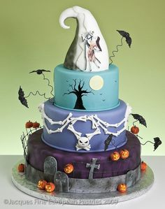 Another Nightmare Before Christmas cake from Jacques Fine European Pastries