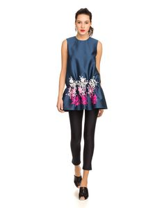 cynthia rowley - embroidered drop waist tunic