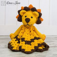We continue our Amigurumi doll shares without slowing down. In this article I am going to share with you amigurumi crochet toy patterns. Crochet Security Blanket, Crochet Lovey, Crochet Lion, Lovey Blanket, Crochet Animals, Free Crochet, Crochet Patterns Amigurumi, Crochet Blanket Patterns, Dou Dou