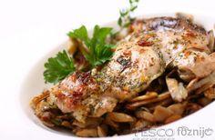 Kakukkfűves csirkecomb pirított gombával | Recept | TESCO Főzni jó