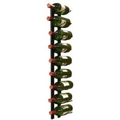 9-Bottle Metal Wine Rack in Black Finish-EP-WIRE1B at The Home Depot