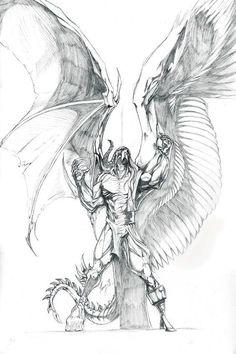 Demon Tattoo, Angel Devil Tattoo, Tatoo Art, Half Angel Half Demon, Tattoo Sketches, Tattoo Drawings, Art Sketches, Pencil Drawings, Demon Drawings