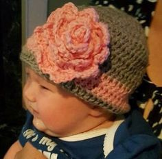 A personal favorite from my Etsy shop https://www.etsy.com/listing/267652523/baby-crochet-hat-with-oversized-crochet