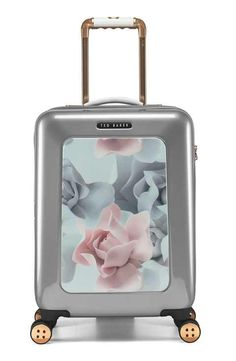 Ted Baker London 'Small Porcelain Rose' Four Wheel Suitcase (22 Inch)