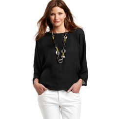 Loft - LOFT Tops - Snakeskin Texture 3/4 Sleeve Wedge Blouse