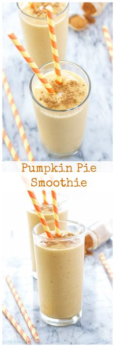 Pumpkin Pie Smoothie   Who doesn't want pumpkin pie for breakfast? Now you can have all the flavors in this healthy smoothie!