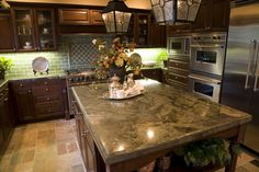 5 Kitchen Countertop Options That'll Look Great In Any Home | Granite Kitchen Countertop | Kitchen Cabinet Kings