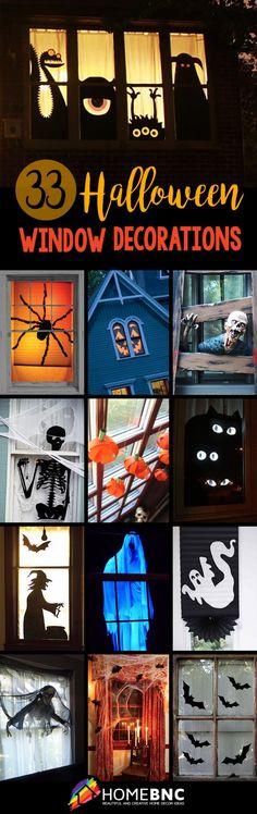 great simple decor idea Halloween Pinterest Holidays halloween - halloween window decorations