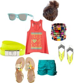 summah, created by carrie-courtney on Polyvore... I could do without the hair